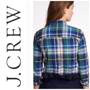 J. Crew Tops - J. Crew Quincy Plaid The Boy Shirt Size 4/ Small